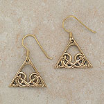 Triangle Celtic Bronze Earrings