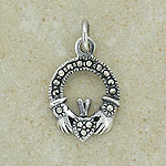 Claddagh Marcasite Silver Pendant (from Ireland)
