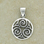 Lovely Celtic Spiral Pendant (Made from silver)