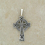A Traditional Celtic Cross Pendant (.925 sterling silver)