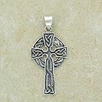 Celtic Cross Pendant with circular base (Irish inspired design)