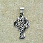 Celtic Cross Pendant inspired by Ireland (sterling silver)