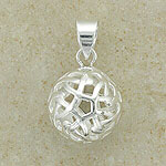 Round Irish Celtic Ball Pendant (silver)