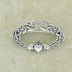 Celtic Design Irish Claddagh Brooch (Friendship, loyalty, love)