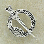 Superb Celtic Tara Silver Brooch