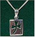 Irish Shamrock Lucky Silver Pendant