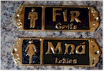 Irish Brass Bathroom Restroom Signs