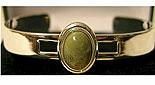 Silver Oval Connemara Marble Gemstone (Bangle)