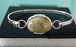 Connemara Marble Clip-On Bangle (Silver Plated)