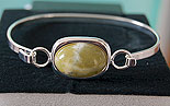Connemara Marble Silver Clip on Bangle (Silver Plated)
