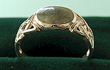 Ladies Celtic Connemara Marble Ring