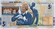 Jack Nicklaus �5 Bank of Scotland Note (Legal Tender - Mint Condition)