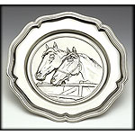 Pewter Plaque - Horses