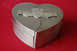 Claddagh Heart Shaped Jewellery Box (By Mullingar Pewter Jewelry)