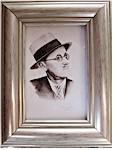 James Joyce -  Miniature Watercolour