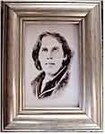 Oscar Wilde Portrait - Miniature Watercolour