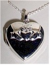 Georgous Silver Irish Claddagh Love Locket