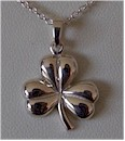 Solid Silver Irish Shamrock Jewelry Pendant