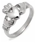 Ladies Silver Irish Claddagh Celtic Ring