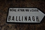 Ballinagh Old Style Road Sign