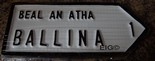 Ballina Old Style Road Sign