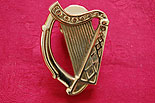 Irish Harp Brass Door Knocker