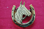 Horse Head & Horse Shoe Door Knocker