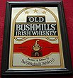 Old Bushmills Irish Whiskey Pub Mirror Sign