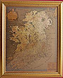 Framed 19th Century Old Map of Ireland