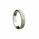 Alluring 10kt white gold Mens Narrow Wedding Band ring Celtic Warrior Shield pattern