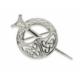 Medium Silver Tara brooch with Celtic knotwork (Hallmarked in Dublin)