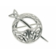 Large Silver Irish Tara brooch with Celtic knotwork (.925 sterling silver)