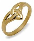 Ladies Pure Gold 10K Trinity Knot Ring