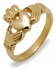 Ladies 10K Gold Irish Claddagh Heavy Celtic Ring
