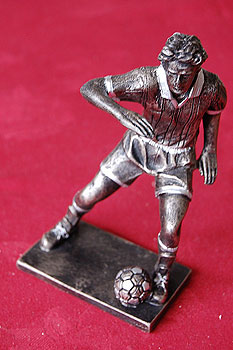 """Soccer Player Figure 5.5"""" tall (Polyresin)"""