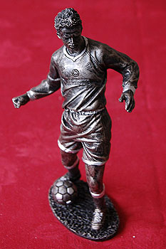 """Soccer Player Figure 8"""" tall (Polyresin)"""