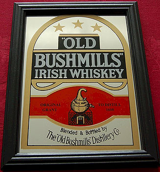 Irish Pub Mirrors Bushmills Irish Whiskey Pub Mirror Sign