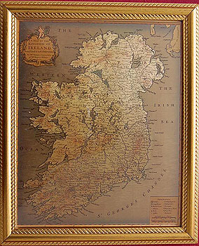 Old Maps Of Ireland Framed 19th Century Old Map Of Ireland