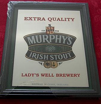 "Murphys Irish Stout Beer Pub Mirror Sign (8.75"" x 6.75"")"