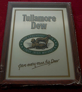 Tullamore Dew Irish Whiskey Pub Mirror Sign