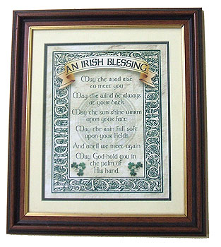 An Irish Blessing Celtic Knotwork Framed