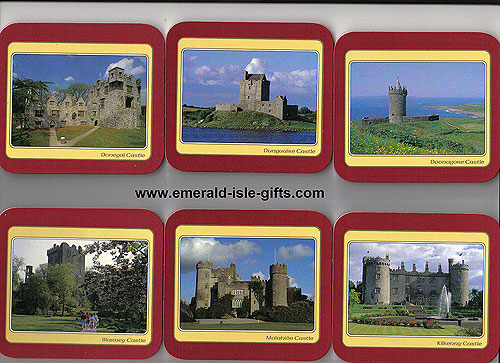 Irish Castles Set Of 6 Quality Coasters