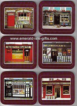 Irish Pubs Set Of 6 Quality Coasters