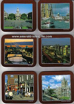 Dublin City Views Set Of 6 Quality Coasters