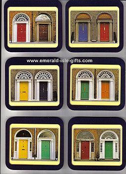 Georgian Doors Of Dublin Set Of 6 Quality Coasters