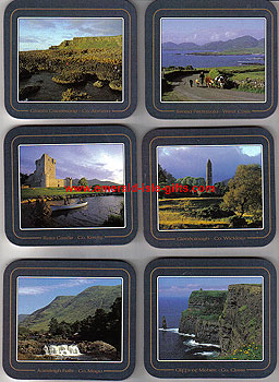 Views Of Ireland Set Of 6 Quality Coasters