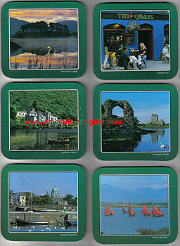 County Galway Ireland Set Of 6 Quality Scenic Coasters