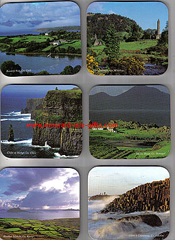 Irish Landscapes Set Of 6 Hardwood Quality Coasters