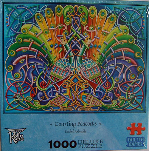 Celtic Art Jigsaw Puzzle - Counting Peacocks