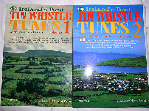 110 Irish Tin Whistle Tunes Volumes 1 & 2 (Two books, 220 tunes !!)